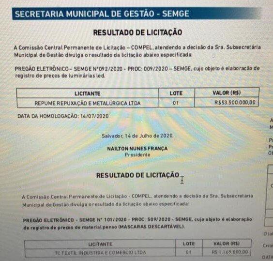 LICITAÇÃO SALVADOR